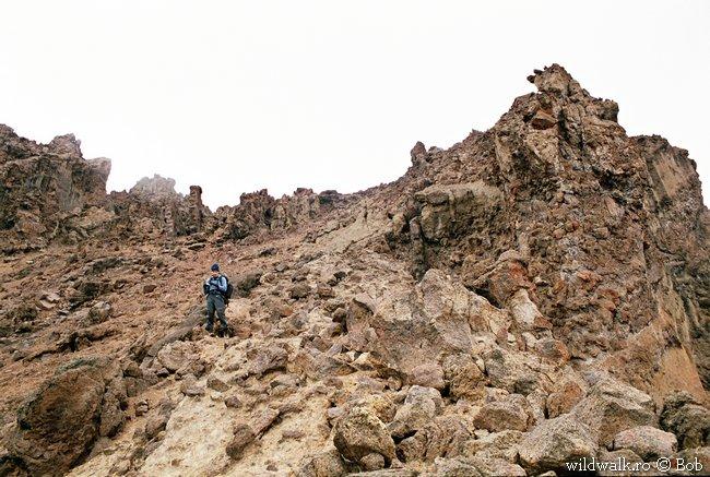 2004 - Im Oehler Couloir in Richtung Sattel zwischen den Gipfeln
