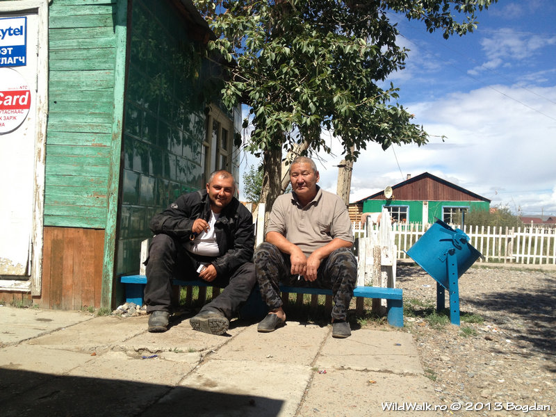 in the North of Mongolia, a little village where we found some food