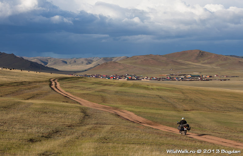 Tsetserleg viilage, in the North of Mongolia