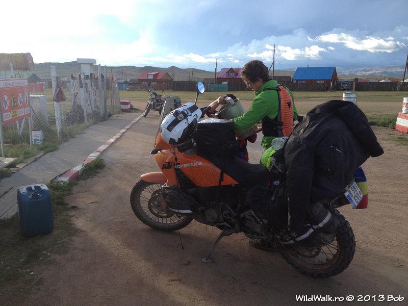Tsetserleg viilage, in the North of Mongolia