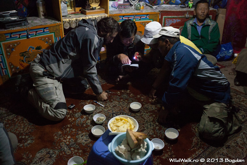 At a Mongolian family, in the North of Mongolia