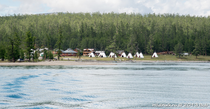 Toilogt yurt camp, Lake Hovsgol, in the North of Mongolia