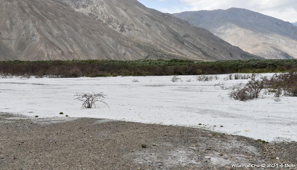 Urme de sare pe Valea Bartang, Tajikistan
