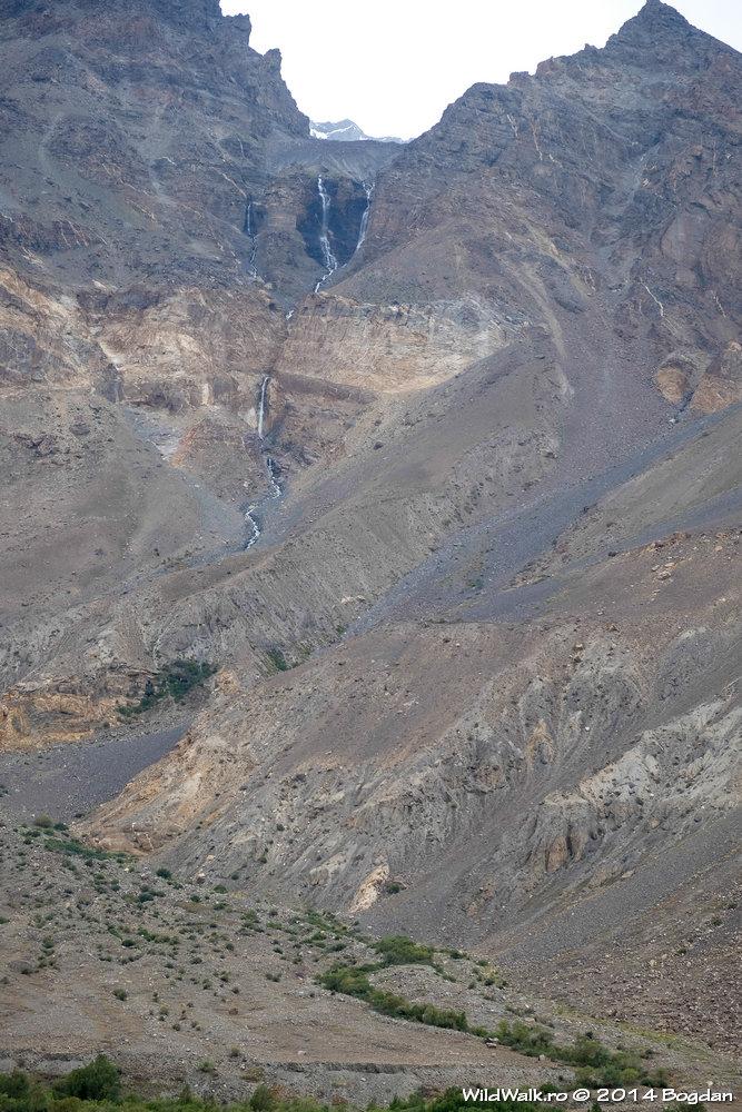 Cascada pe Valea Bartang, Tajikistan