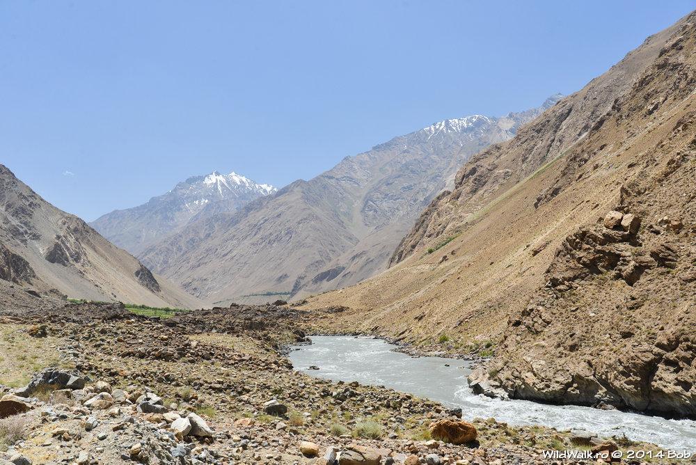 Raul Panj, granita dintre Tajikistan si Afganistan